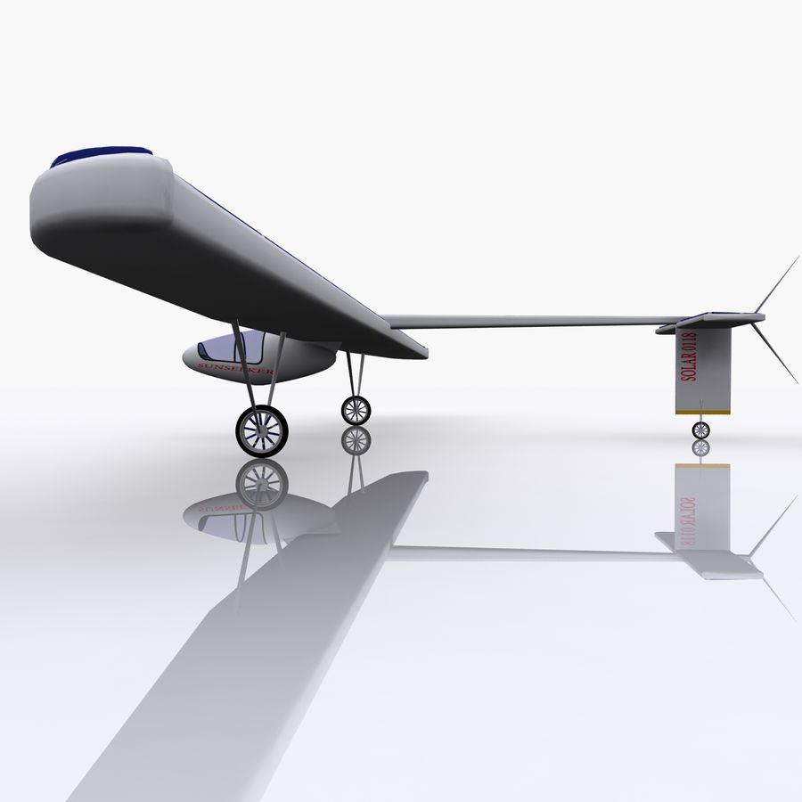 ソーラー航空機 royalty-free 3d model - Preview no. 13