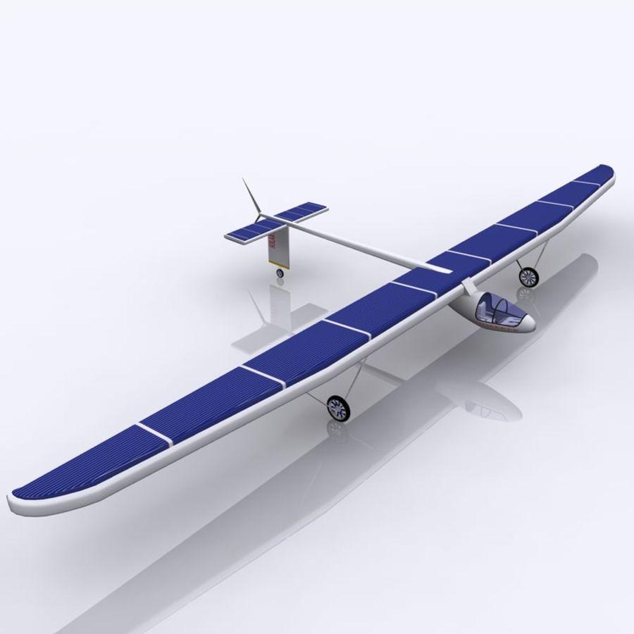 ソーラー航空機 royalty-free 3d model - Preview no. 3