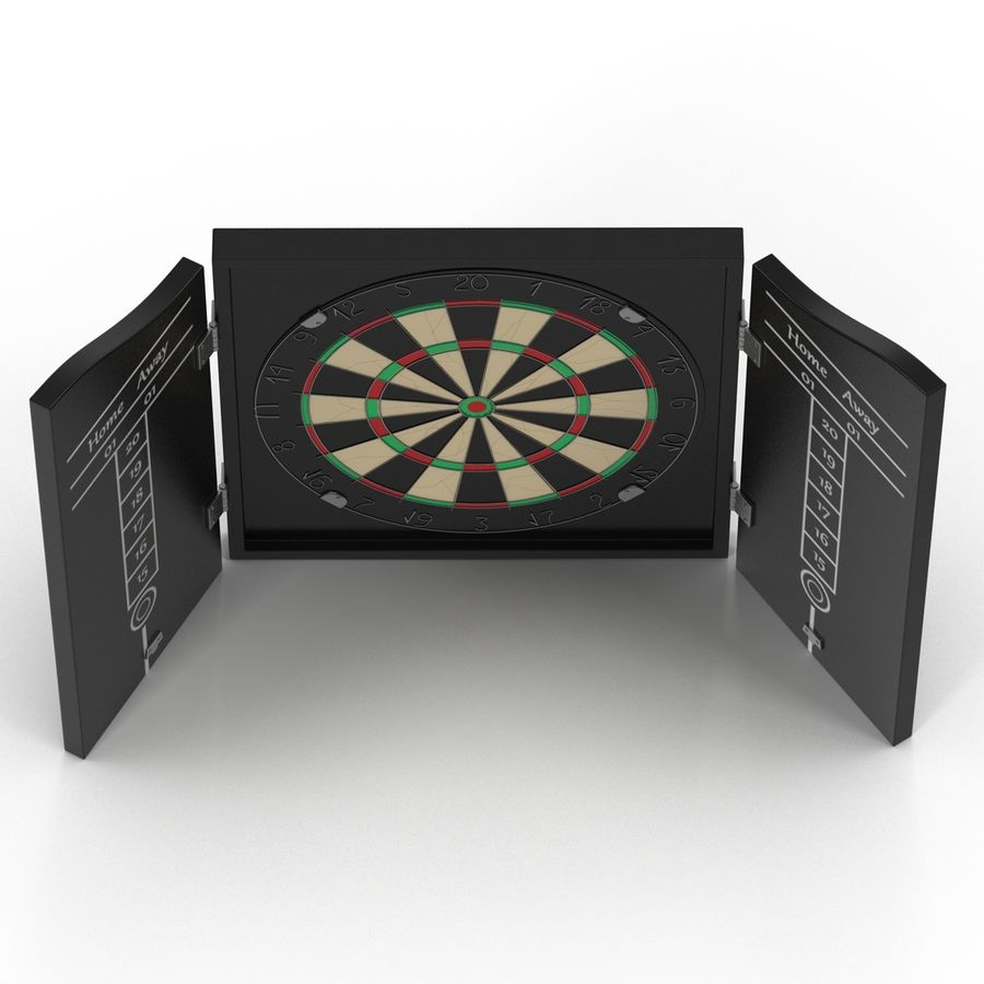 Dart Board 3 royalty-free 3d model - Preview no. 16