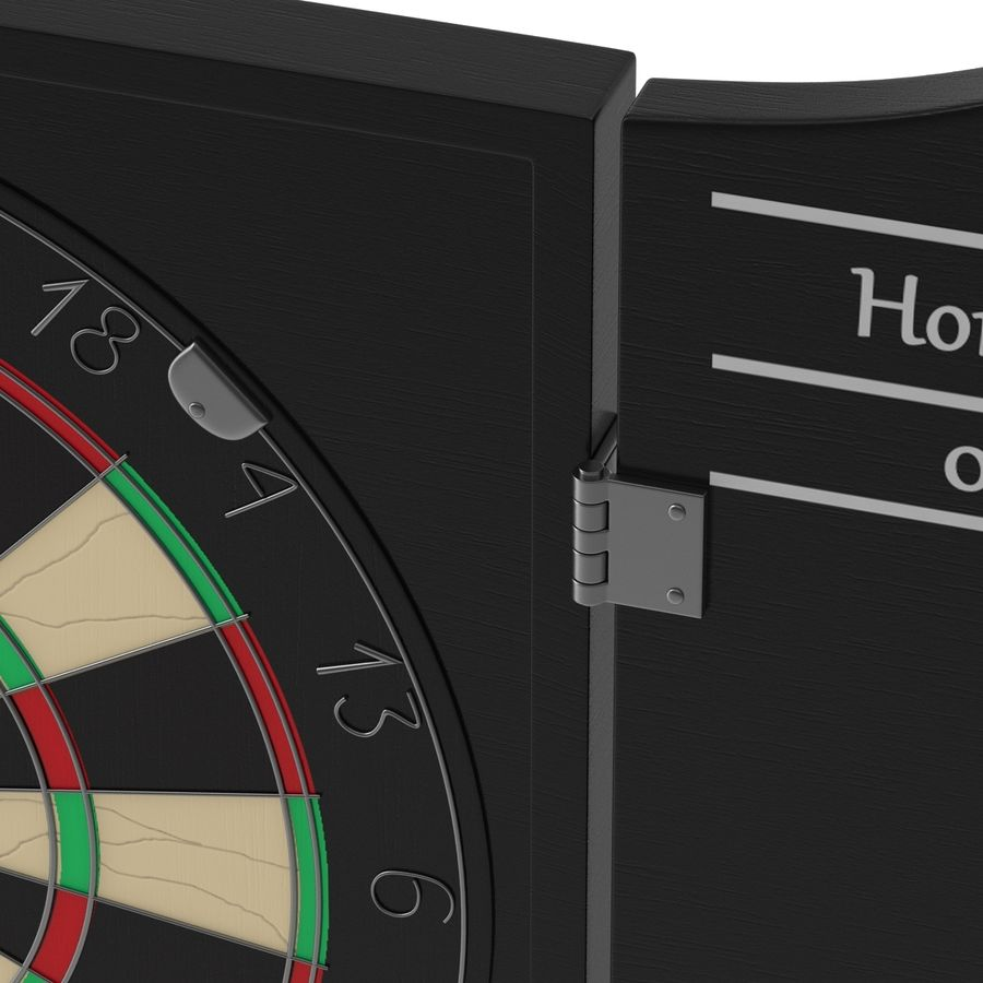 Dart Board 3 royalty-free 3d model - Preview no. 9