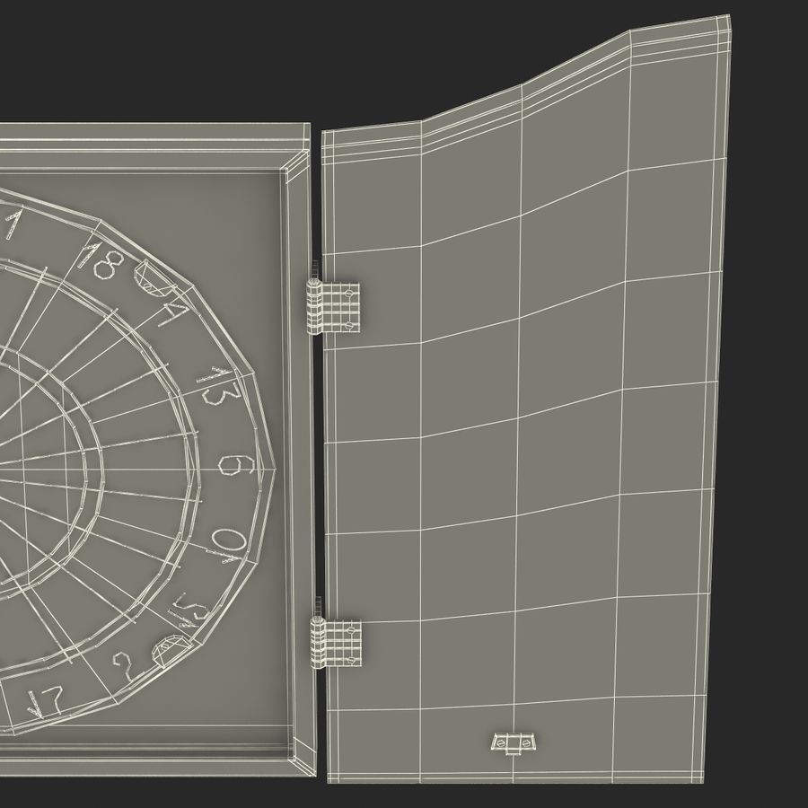 Dart Board 3 royalty-free 3d model - Preview no. 27
