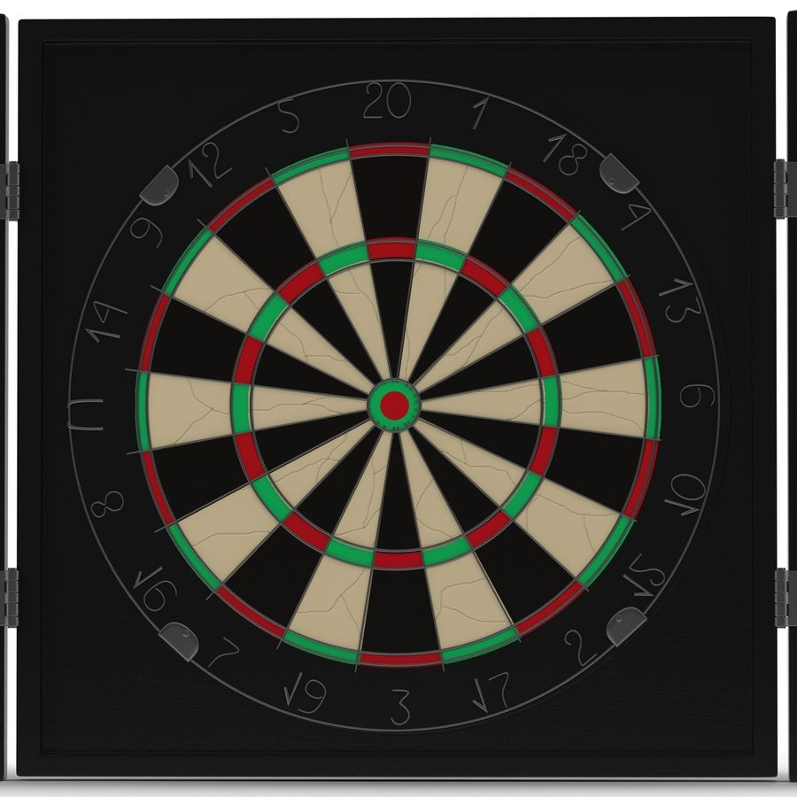 Dart Board 3 royalty-free 3d model - Preview no. 6