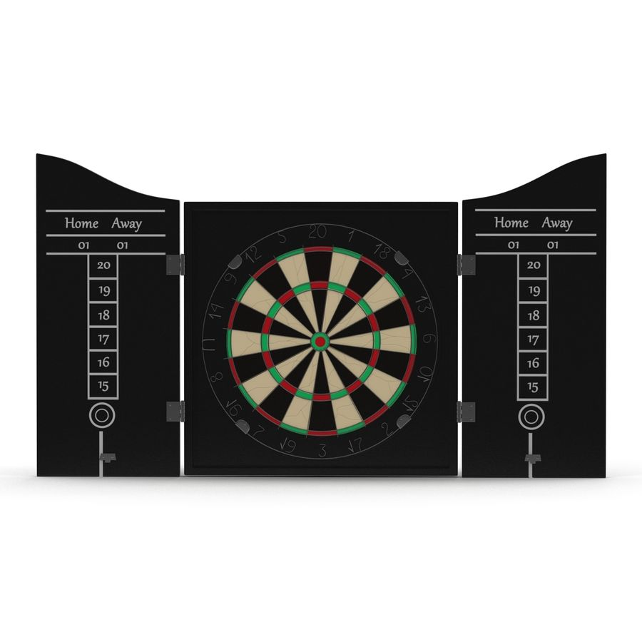 Dart Board 3 royalty-free 3d model - Preview no. 3