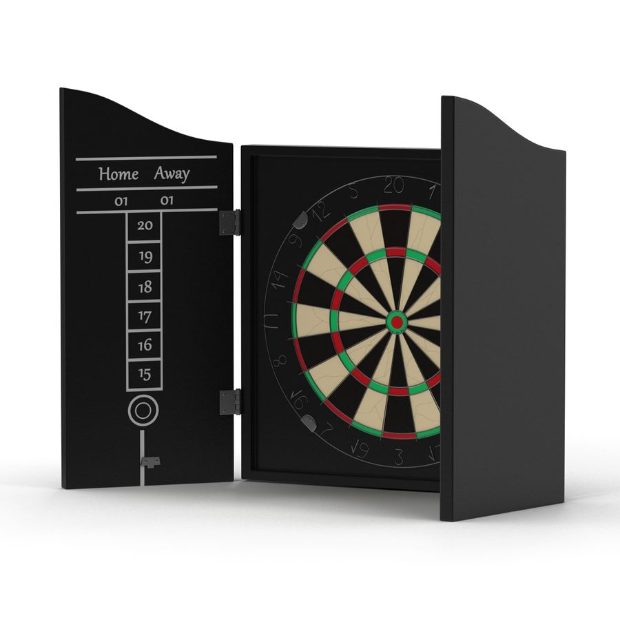 Dart Board 3 royalty-free 3d model - Preview no. 13