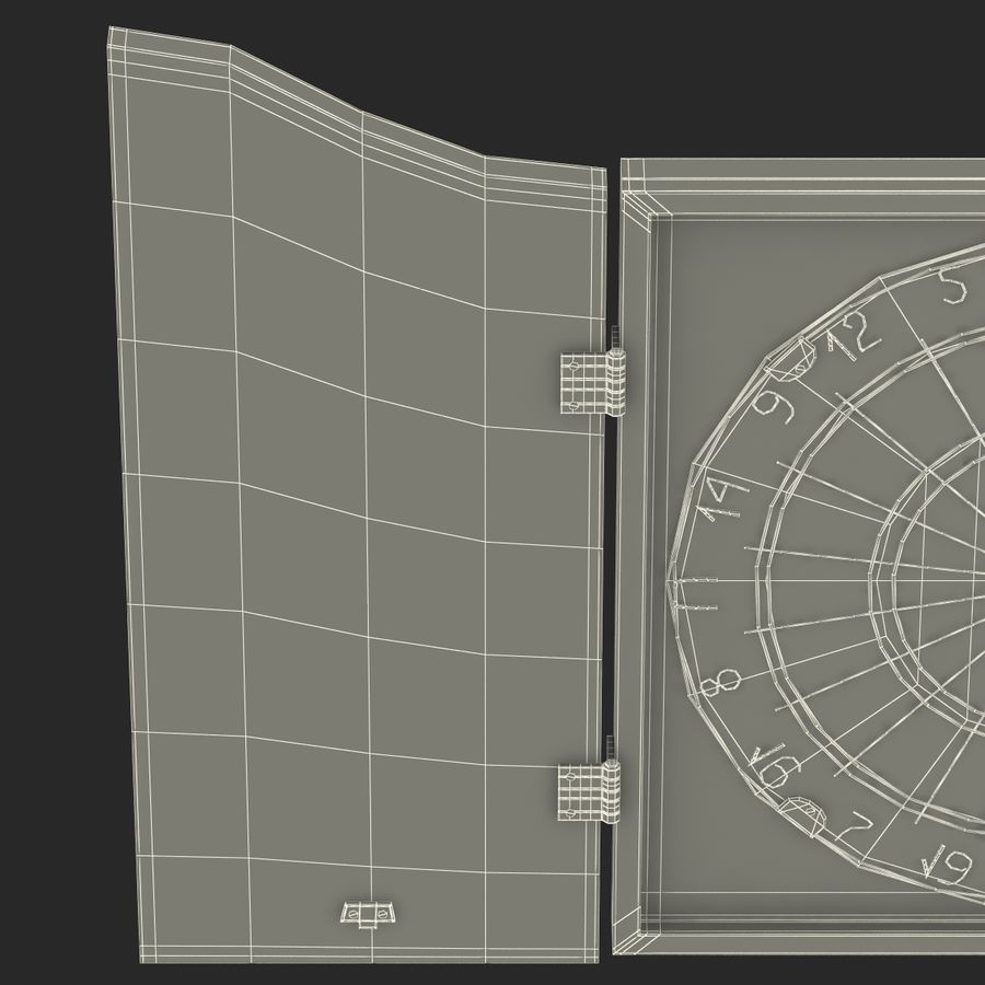 Dart Board 3 royalty-free 3d model - Preview no. 26