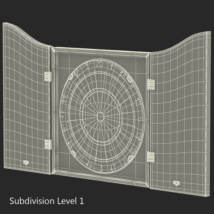 Dart Board 3 royalty-free 3d model - Preview no. 20