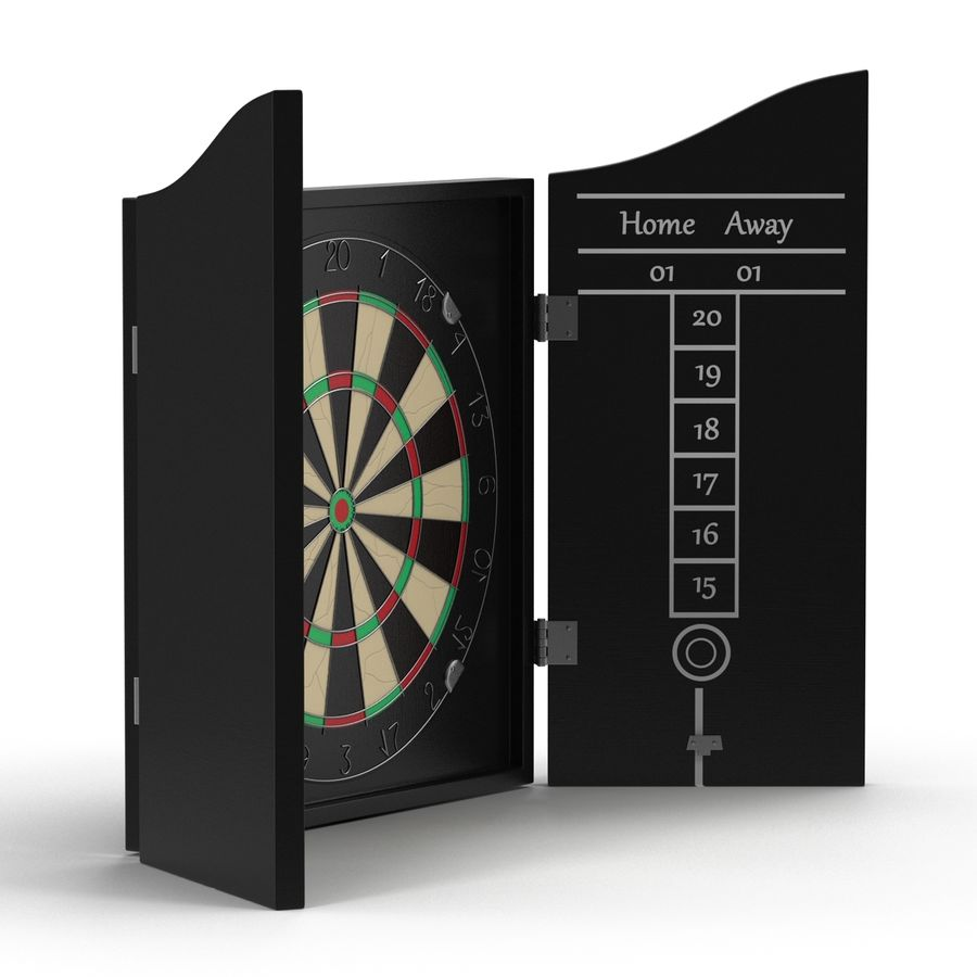 Dart Board 3 royalty-free 3d model - Preview no. 14