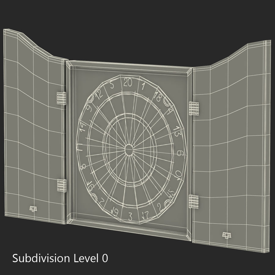 Dart Board 3 royalty-free 3d model - Preview no. 19