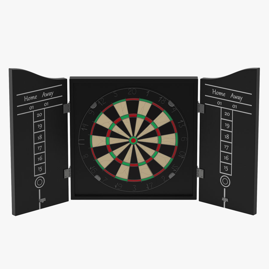 Dart Board 3 royalty-free 3d model - Preview no. 1