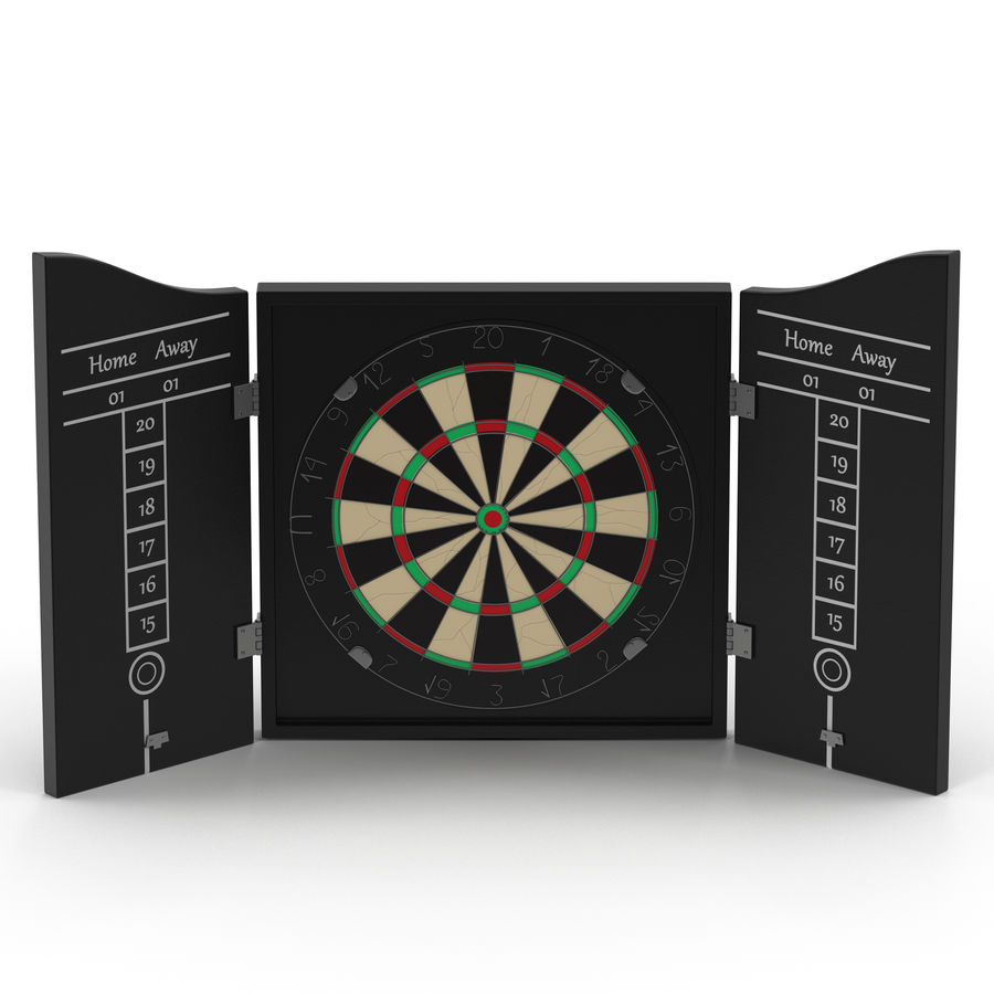 Dart Board 3 royalty-free 3d model - Preview no. 2
