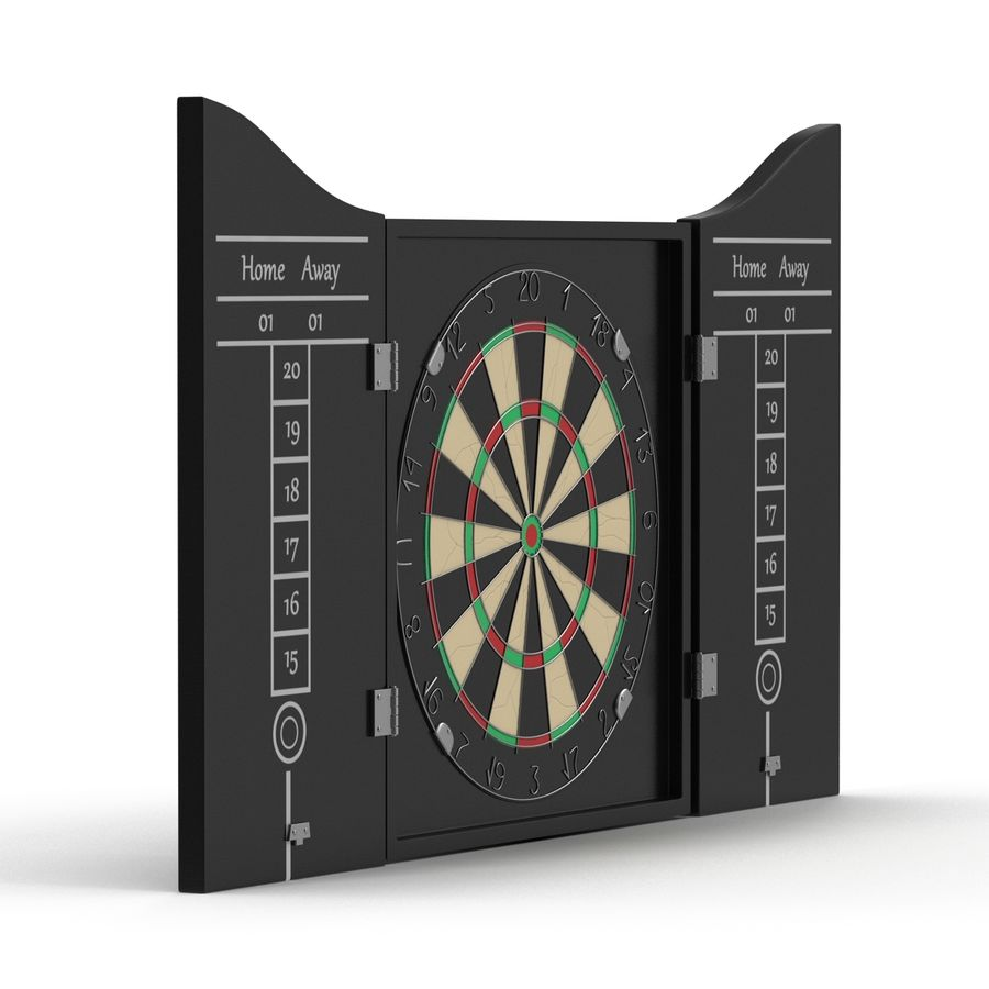 Dart Board 3 royalty-free 3d model - Preview no. 4