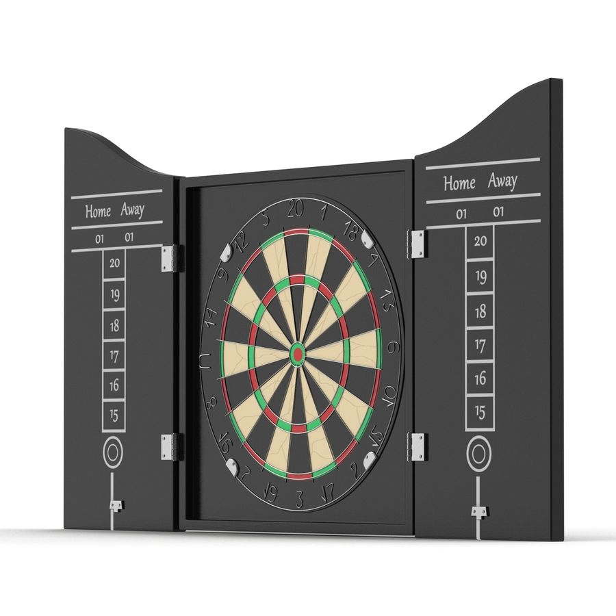 Dart Board 3 royalty-free 3d model - Preview no. 5