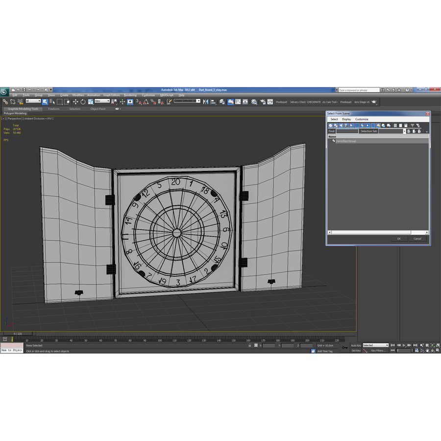 Dart Board 3 royalty-free 3d model - Preview no. 23