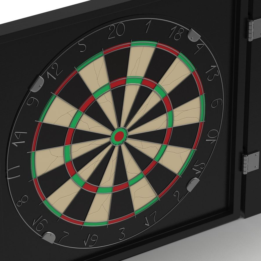Dart Board 3 royalty-free 3d model - Preview no. 11