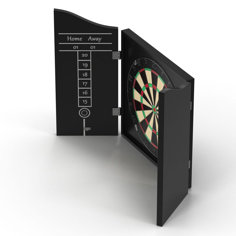 Dart Board 3 royalty-free 3d model - Preview no. 15