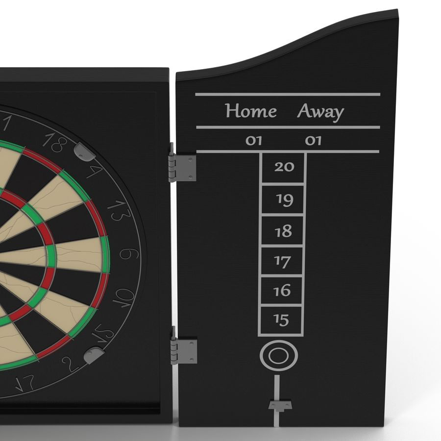 Dart Board 3 royalty-free 3d model - Preview no. 8