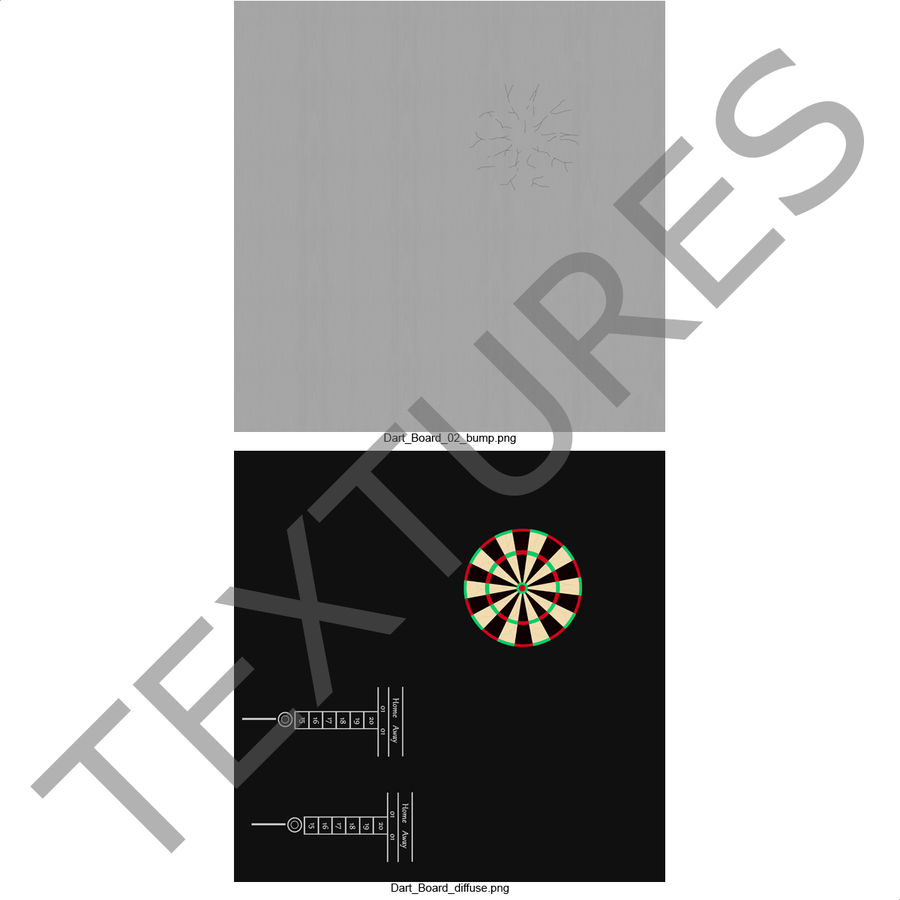 Dart Board 3 royalty-free 3d model - Preview no. 22