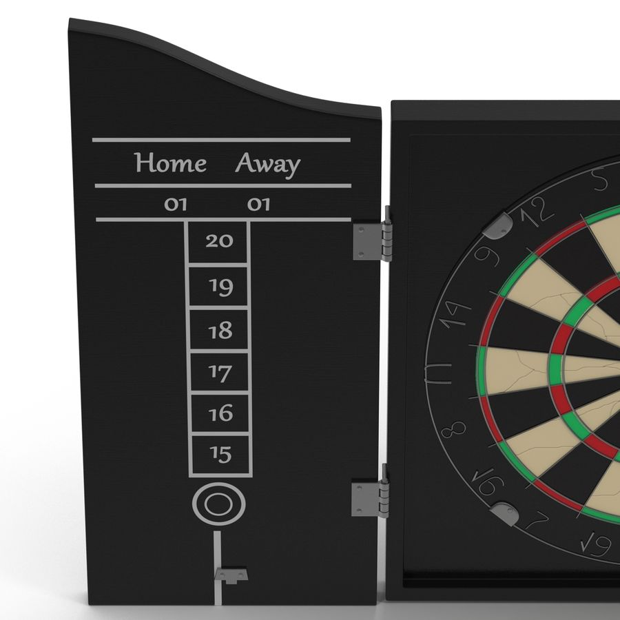Dart Board 3 royalty-free 3d model - Preview no. 7