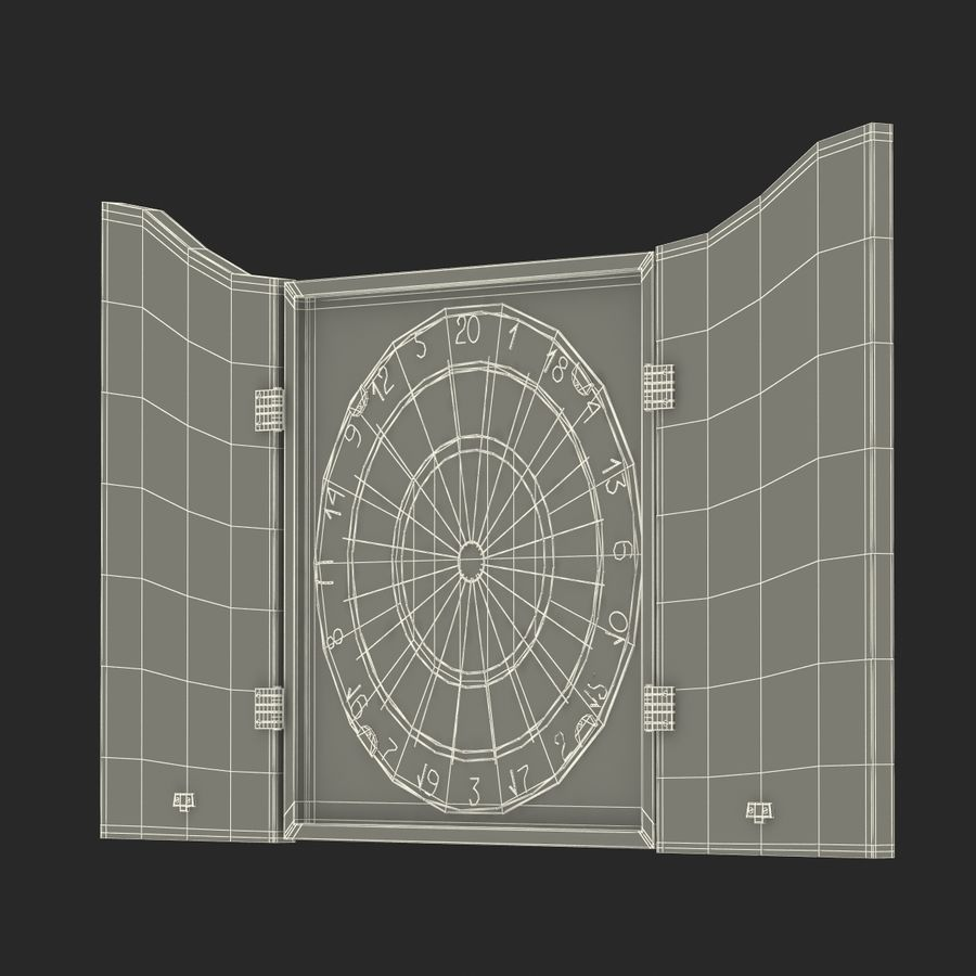 Dart Board 3 royalty-free 3d model - Preview no. 25