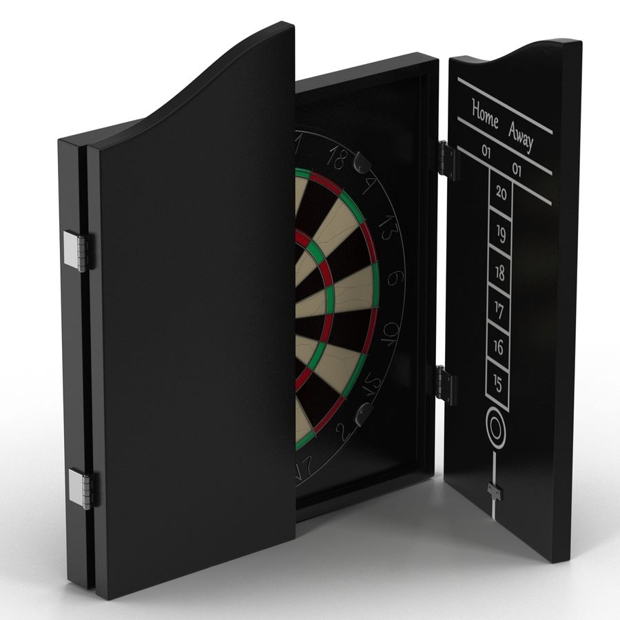 Dart Board 3 royalty-free 3d model - Preview no. 12