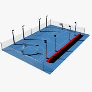 Terrain de basketball 3d model