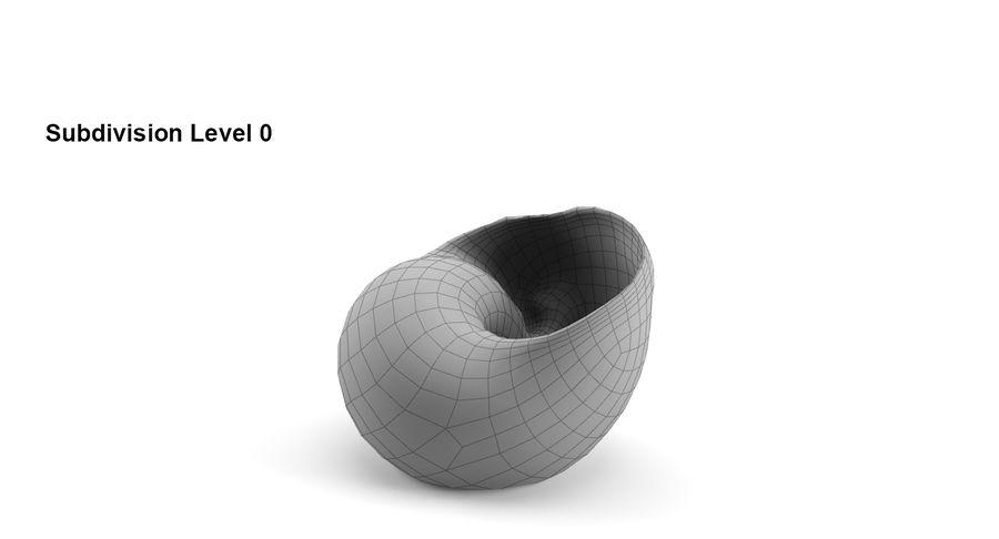 Guscio di chiocciola royalty-free 3d model - Preview no. 7