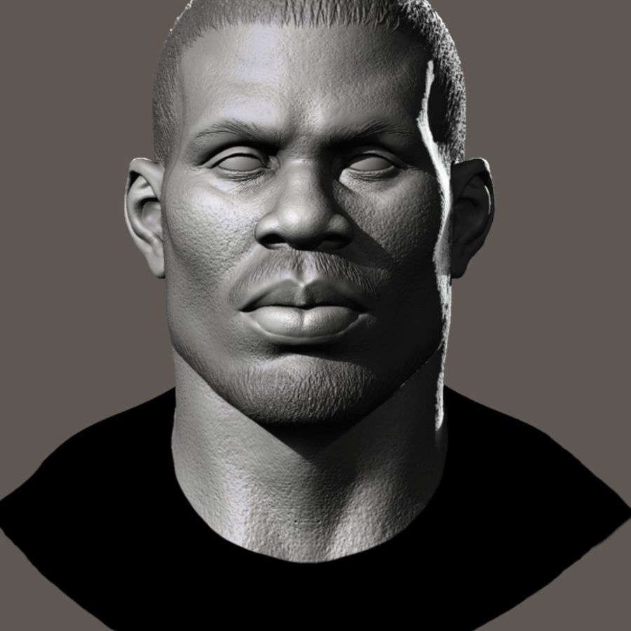 High Poly Head Male african 3 royalty-free 3d model - Preview no. 1