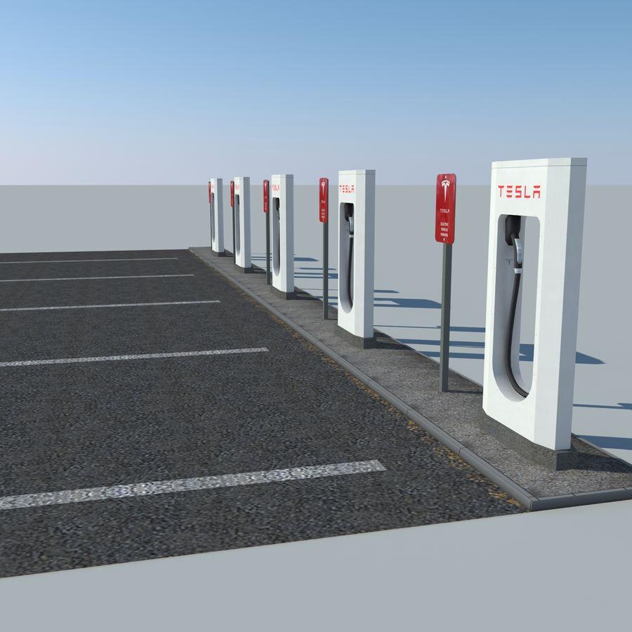 Tesla Supercharger Parking 3D Model $39 -  unknown  obj  fbx