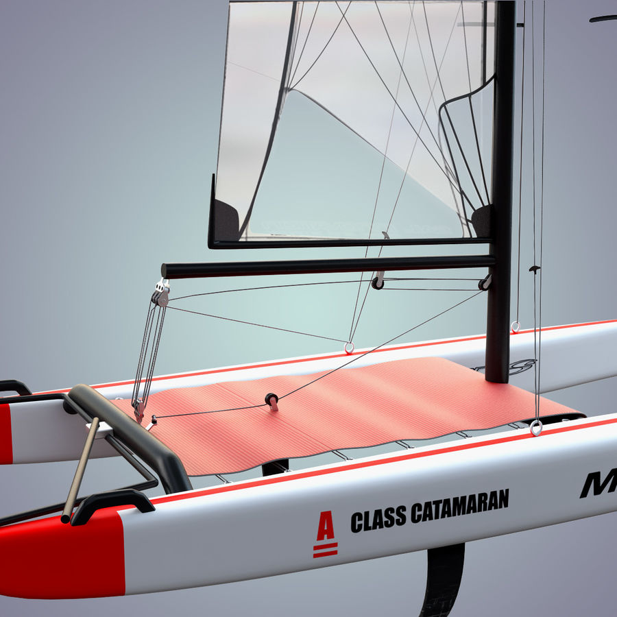 Klasa katamaranu_A royalty-free 3d model - Preview no. 4