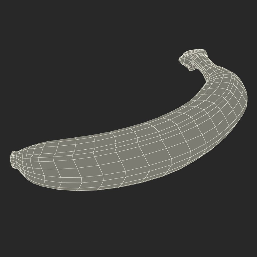 Banana royalty-free 3d model - Preview no. 20