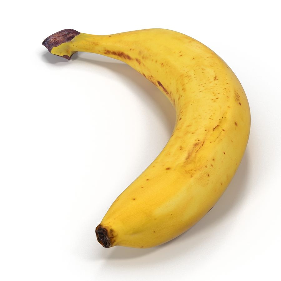 Banana royalty-free 3d model - Preview no. 4
