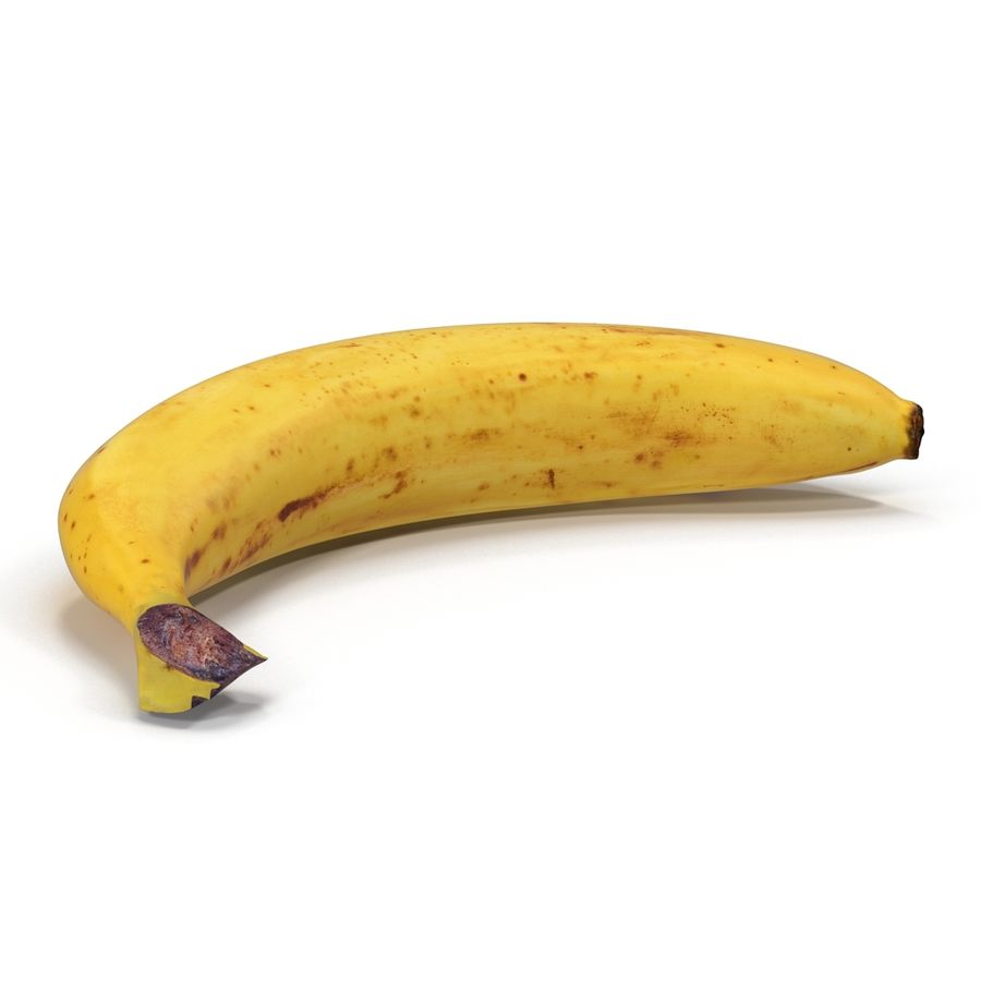 Banaan royalty-free 3d model - Preview no. 8