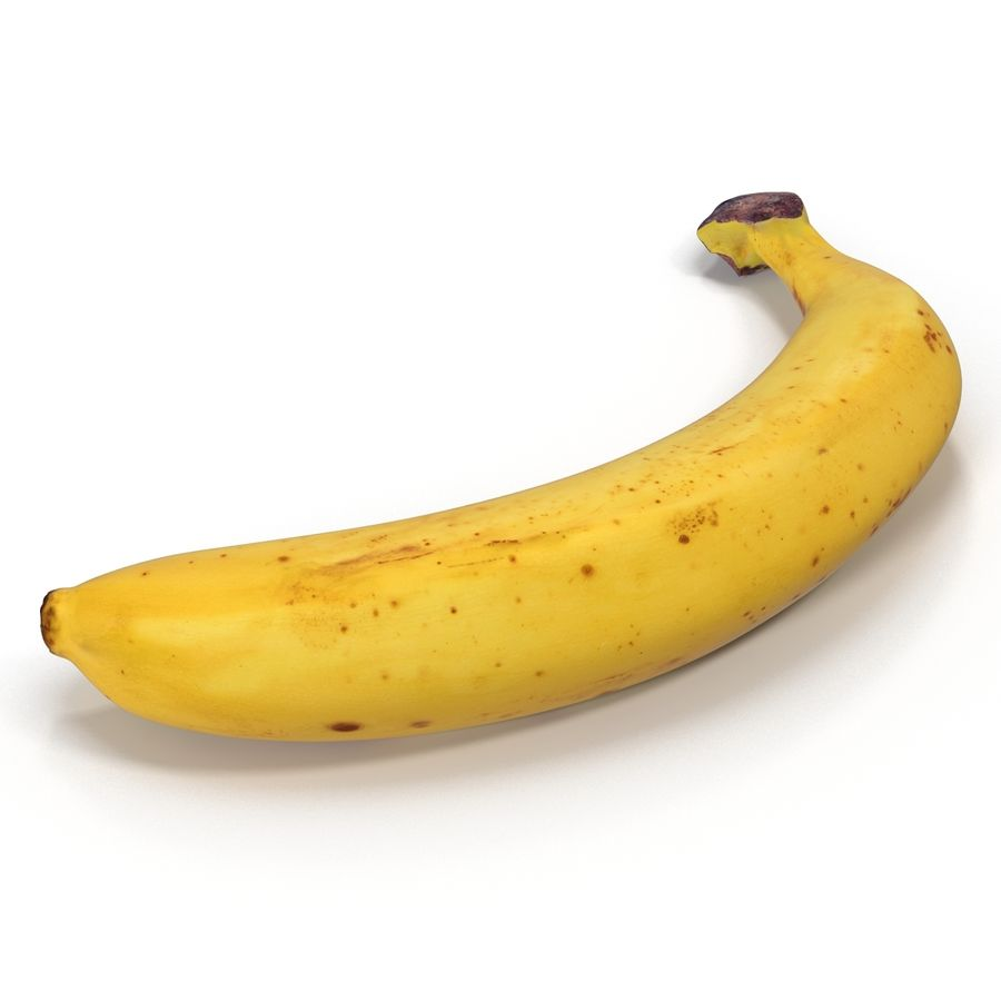 Banana royalty-free 3d model - Preview no. 6
