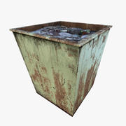 Dumpster Low Poly Garbage Container 3d model