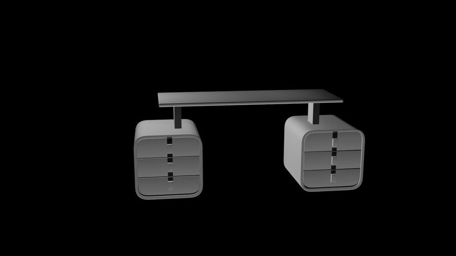 Kontor royalty-free 3d model - Preview no. 2