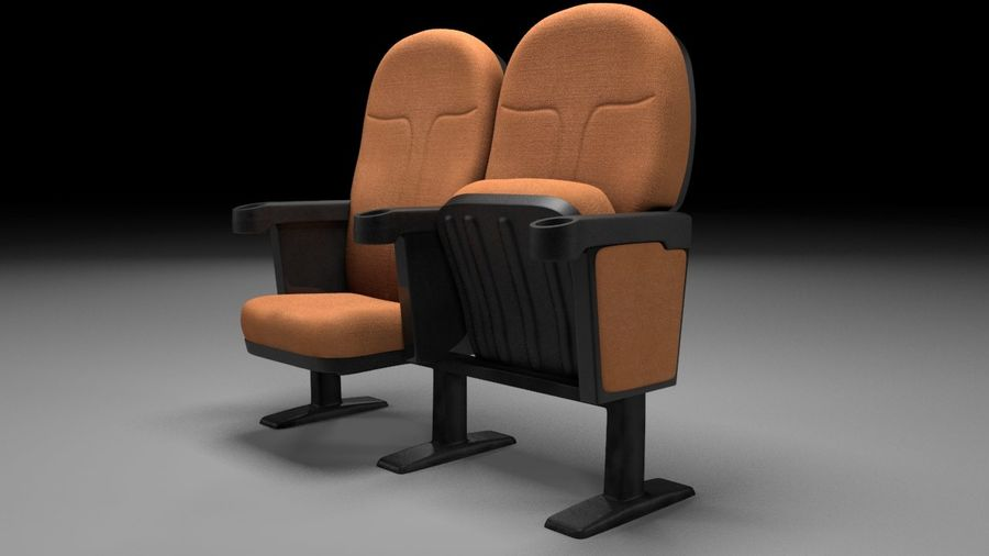chaise de cinéma royalty-free 3d model - Preview no. 4