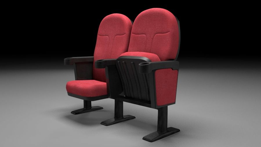 chaise de cinéma royalty-free 3d model - Preview no. 2