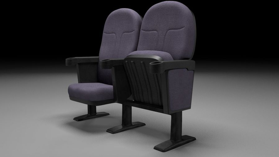 chaise de cinéma royalty-free 3d model - Preview no. 3