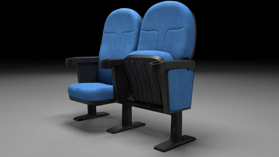 chaise de cinéma royalty-free 3d model - Preview no. 5