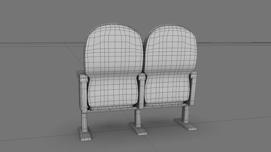 chaise de cinéma royalty-free 3d model - Preview no. 7