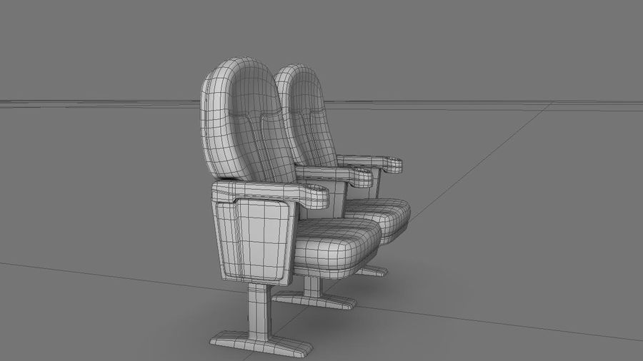 chaise de cinéma royalty-free 3d model - Preview no. 8