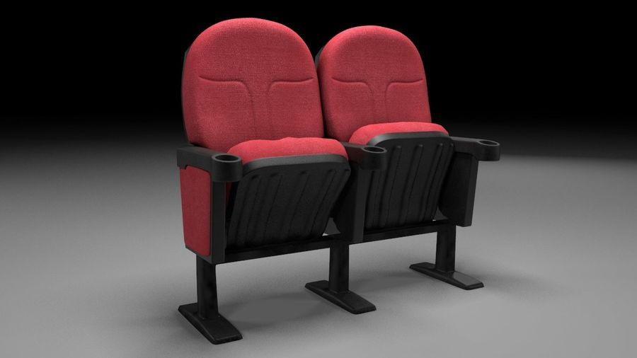 chaise de cinéma royalty-free 3d model - Preview no. 1