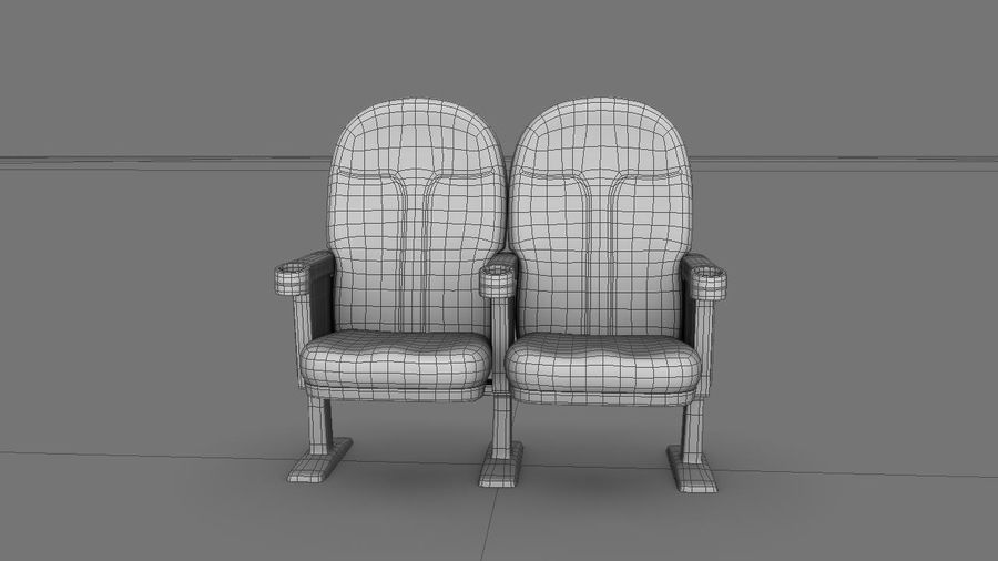 chaise de cinéma royalty-free 3d model - Preview no. 6