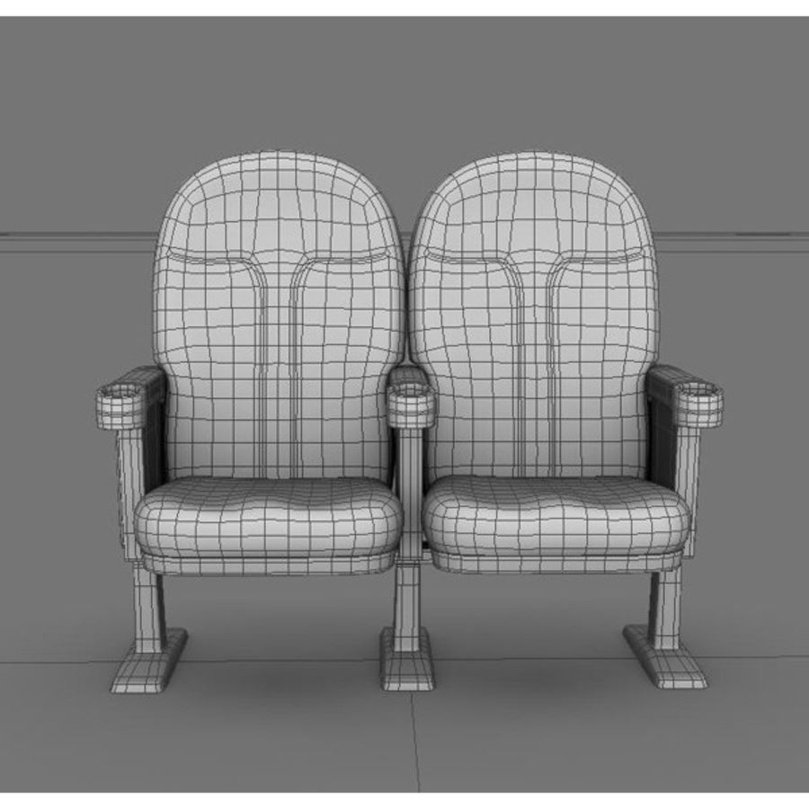 chaise de cinéma royalty-free 3d model - Preview no. 9