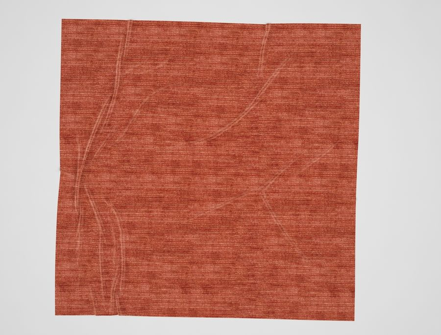 Square Rug with Wrinkles 3D Model $6