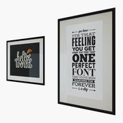 Typography Print Pictures 3d model