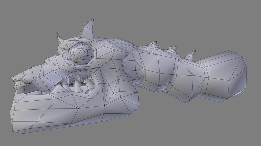 Głowa smoka royalty-free 3d model - Preview no. 15