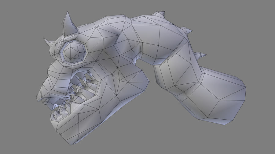 Głowa smoka royalty-free 3d model - Preview no. 17