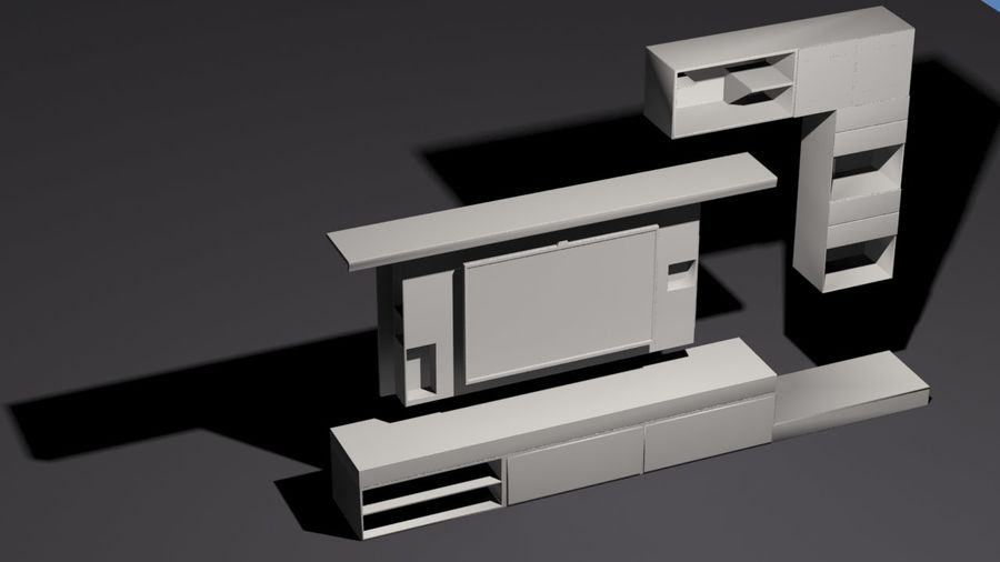 Meble do salonu royalty-free 3d model - Preview no. 6