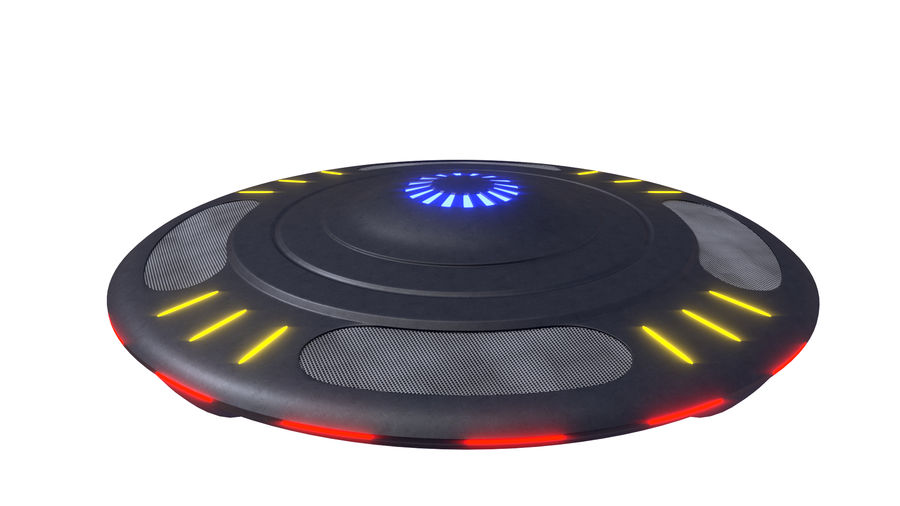 UFO royalty-free 3d model - Preview no. 1
